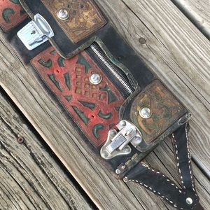 Antique fanny pack leather purse Budapest